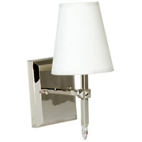 Garnett 1 Light 5 inch Polished Nickel Wall Sconce Wall Light in Off-White