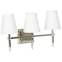Garnett 3 Light 21 inch Polished Nickel Vanity Light Wall Light in Off-White