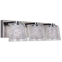 Craftmade 19320CH3-LED Bevi LED 20 inch Chrome Vanity Light Wall Light in 3