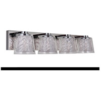 Craftmade 19327CH4-LED Bevi LED 26 inch Chrome Vanity Light Wall Light in 4