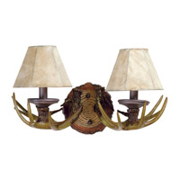 Jeremiah by Craftmade Antler 2 Light Vanity Light in European Bronze 19412EB2