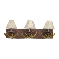 Jeremiah by Craftmade Antler 3 Light Vanity Light in European Bronze 19425EB3