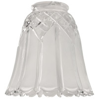 Craftmade 195-G Signature Acid-Etched Frosted Clear Fan Glass Scalloped Bell