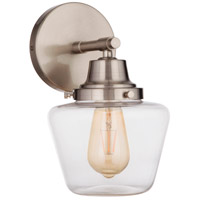 Craftmade 19507BNK1 Neighborhood Essex 1 Light 7 inch Brushed Polished Nickel Wall Sconce Wall Light, Neighborhood Collection