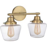 Craftmade 19518SB2 Essex 2 Light 18 inch Satin Brass Vanity Light Wall Light Neighborhood Collection