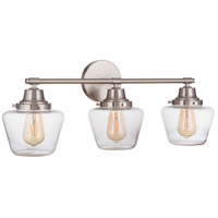 Craftmade 19528BNK3 Neighborhood Essex 3 Light 28 inch Brushed Polished Nickel Vanity Light Wall Light Neighborhood Collection