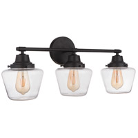 Craftmade 19528FB3 Neighborhood Essex 3 Light 28 inch Flat Black Vanity Light Wall Light Neighborhood Collection