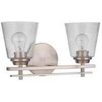 Craftmade 19616BNK2 Neighborhood Drake 2 Light 16 inch Brushed Polished Nickel Vanity Light Wall Light Neighborhood Collection