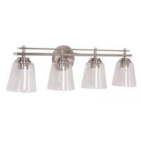 Craftmade 19633BNK4 Drake 4 Light 33 inch Brushed Polished Nickel Vanity Light Wall Light