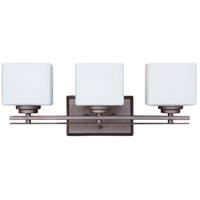Amherst 3 Light 21 inch Oiled Bronze Vanity Light Wall Light in Opal Glass