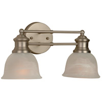 Jeremiah by Craftmade Lite-Rail 2 Light Vanity Light in Brushed Nickel 19812BN2