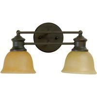 Jeremiah by Craftmade Lite-Rail 2 Light Vanity Light in Oiled Bronze 19812OB2