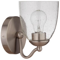 Craftmade 19906BNK1 Hillridge 1 Light 6 inch Brushed Polished Nickel Wall Sconce Wall Light Neighborhood Collection