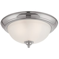 Signature 3 Light 15 inch Satin Nickel Flushmount Ceiling Light in Faux Alabaster Glass