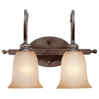 Craftmade 21702-AGT Preston Place 2 Light 16 inch Augustine Vanity Light Wall Light in Light Umber Etched