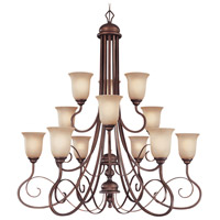 Preston Place 12 Light 42 inch Augustine Chandelier Ceiling Light in Light Umber Etched