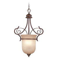Preston Place 3 Light 18 inch Augustine Foyer Light Ceiling Light in Light Umber Etched
