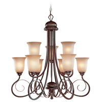 Preston Place 9 Light 33 inch Augustine Chandelier Ceiling Light in Light Umber Etched