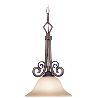 Preston Place 1 Light 10 inch Augustine Mini Pendant Ceiling Light in Light Umber Etched