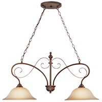 Craftmade 21732-AGT Preston Place 2 Light 36 inch Augustine Island Light Ceiling Light in Light Umber Etched