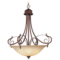 Preston Place 5 Light 31 inch Augustine Inverted Pendant Ceiling Light in Light Umber Etched