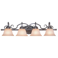 Jeremiah by Craftmade Sheridan 4 Light Vanity Light in Forged Metal 22004-FM
