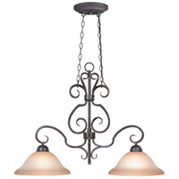 Craftmade 22022-FM Sheridan 2 Light 35 inch Forged Metal Island Light Ceiling Light in Light Umber Etched