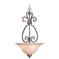 Sheridan 3 Light 18 inch Forged Metal Inverted Pendant Ceiling Light in Light Umber Etched