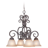 Jeremiah by Craftmade Sheridan Down-Light 4 Light Chandelier in Forged Metal 22024-FM