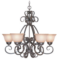 Jeremiah by Craftmade Sheridan 6 Light Chandelier in Forged Metal 22026-FM