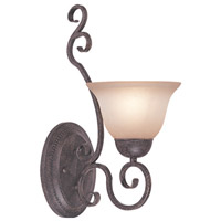Jeremiah by Craftmade Sheridan 1 Light Wall Sconce in Forged Metal 22031-FM