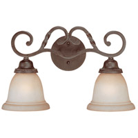 Sutherland 2 Light 18 inch English Toffee Vanity Light Wall Light in Light Umber Etched