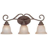 Sutherland 3 Light 26 inch English Toffee Vanity Light Wall Light in Light Umber Etched