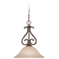 Sutherland 1 Light 10 inch English Toffee Mini Pendant Ceiling Light in Light Umber Etched