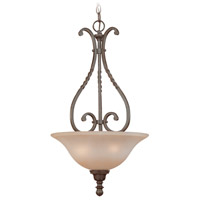 Sutherland 3 Light 16 inch English Toffee Inverted Pendant Ceiling Light in Light Umber Etched