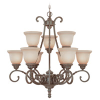 Jeremiah by Craftmade Sutherland 9 Light Chandelier in English Toffee 22429-ET