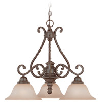 Sutherland 3 Light 26 inch English Toffee Chandelier Ceiling Light in Light Umber Etched