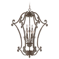 Sutherland 9 Light 28 inch English Toffee Foyer Light Ceiling Light, Cage