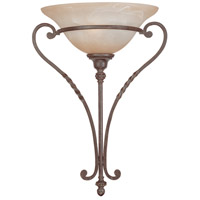 Sutherland 1 Light 14 inch English Toffee Half Wall Sconce Wall Light in Light Umber Etched
