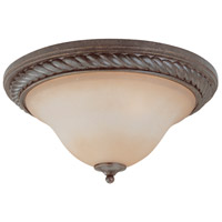 Craftmade 22442-ET Sutherland 2 Light 17 inch English Toffee Flushmount Ceiling Light in Light Umber Etched