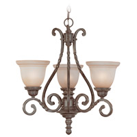 Sutherland 3 Light 22 inch English Toffee Chandelier Ceiling Light in Light Umber Etched