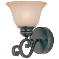 Jeremiah by Craftmade Farmington 1 Light Vanity Light in Ravens Wash 23001-RW
