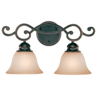 Craftmade 23002-RW Farmington 2 Light 19 inch Ravens Wash Vanity Light Wall Light in Light Umber Etched