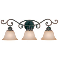 Farmington 3 Light 27 inch Ravens Wash Vanity Light Wall Light in Light Umber Etched