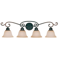 Craftmade 23004-RW Farmington 4 Light 37 inch Ravens Wash Vanity Light Wall Light in Light Umber Etched