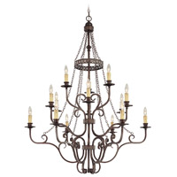 Jeremiah by Craftmade Brookshire Manor 15 Light Chandelier in Burnished Armor 23615-BA