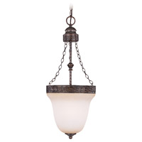 Brookshire Manor 3 Light 10 inch Burnished Armor Foyer Pendant Ceiling Light in Light Umber Etched