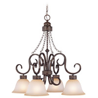Jeremiah by Craftmade Brookshire Manor Down-Light 4 Light Chandelier in Burnished Armor 23624-BA