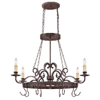 Jeremiah by Craftmade Brookshire Manor 4 Light Pot Rack in Burnished Armor 23634-BA