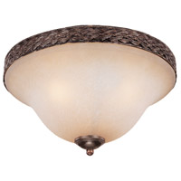 Jeremiah by Craftmade Brookshire Manor 3 Light Flushmount in Burnished Armor 23653-BA